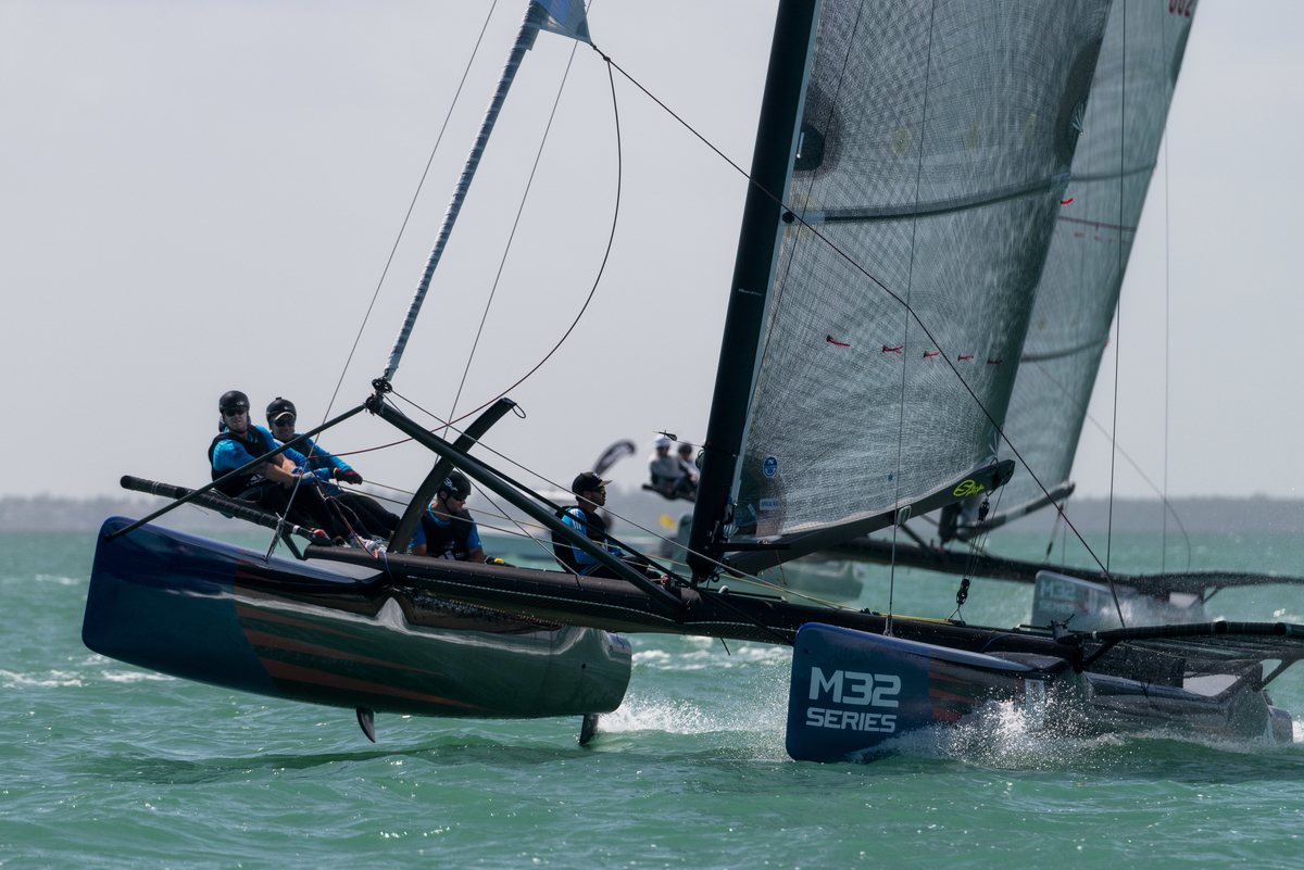M32 Class US One sailing at Bacardi Miami Sailing Week, day four.