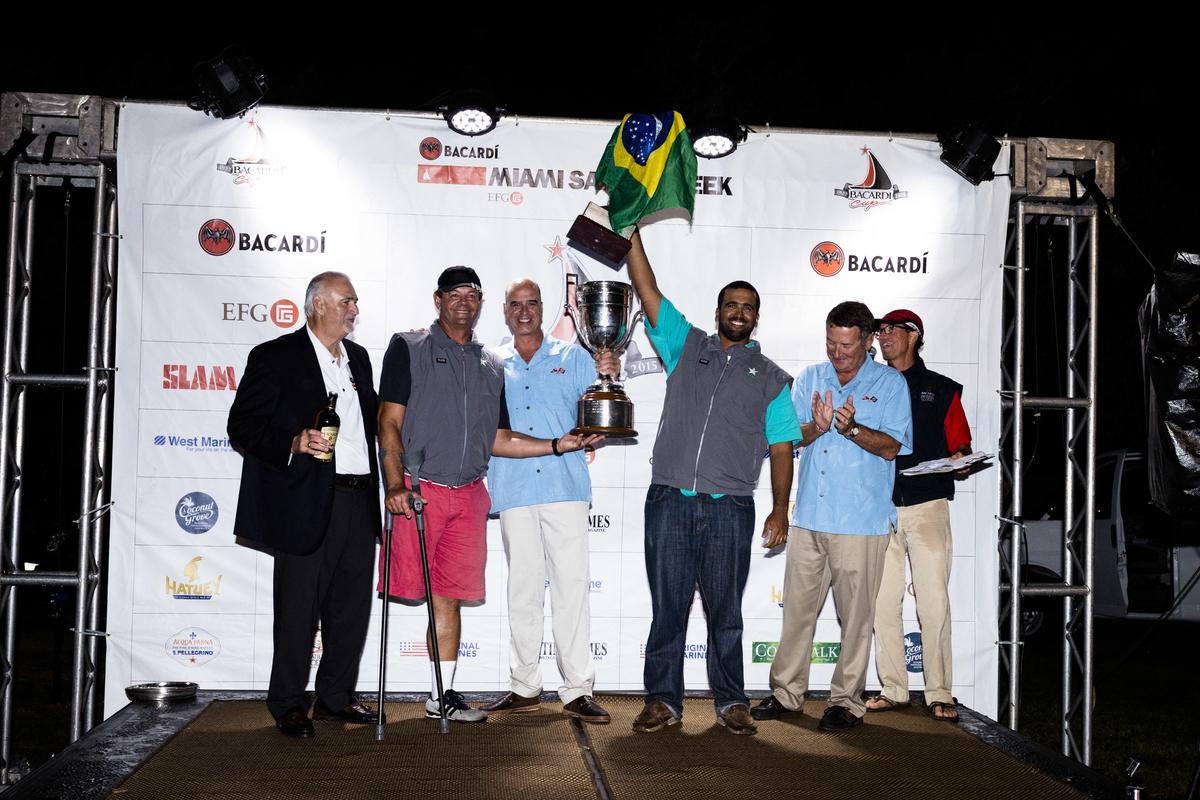 Bacardi Miami Sailing Week awards ceremony.