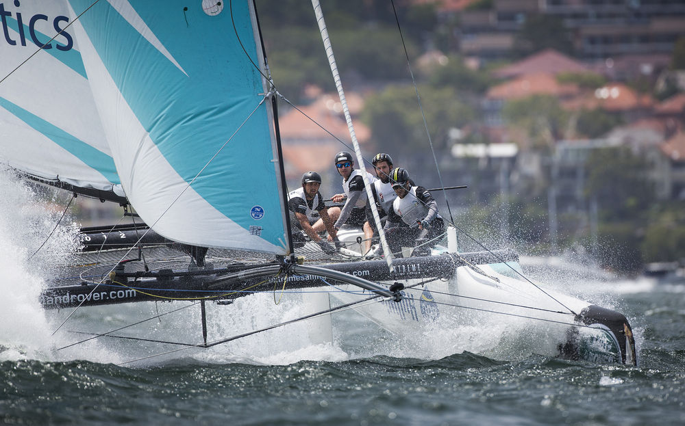 The Extreme sailing Series 2015. Act 8. Sydney. Australia .  Day 4 Image licensed to Lloyd Images
