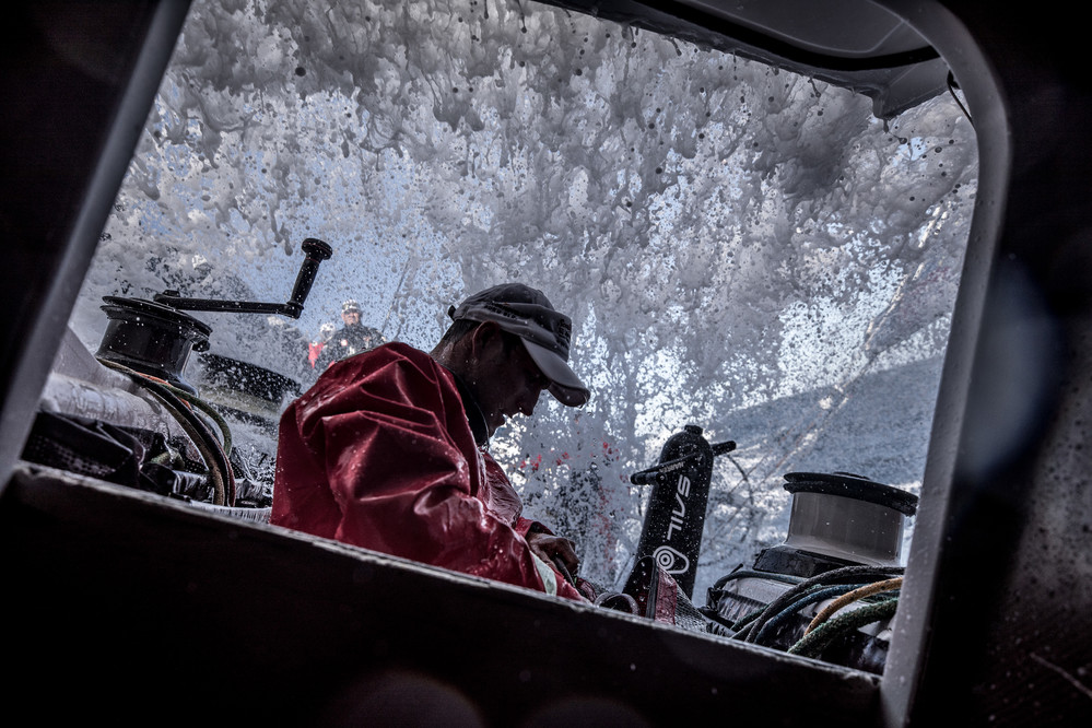 Leg 02, Lisbon to Cape Town, Start day,  on board Sun Hung Kai/Scallywag. Photo by Konrad Frost/Volvo Ocean Race. 05 November, 2017.