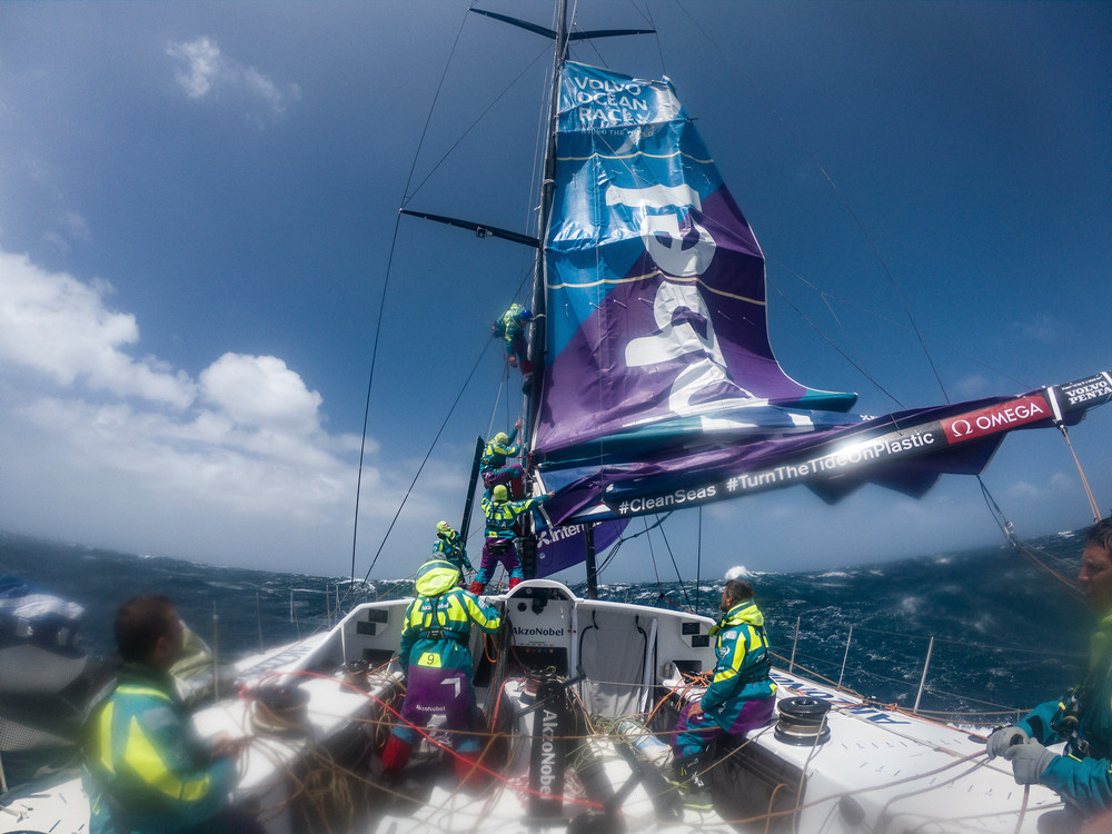 Leg 3, Cape Town to Melbourne, day 05 on board AkzoNobel. Photo by James Blake/Volvo Ocean Race. 14 December, 2017.