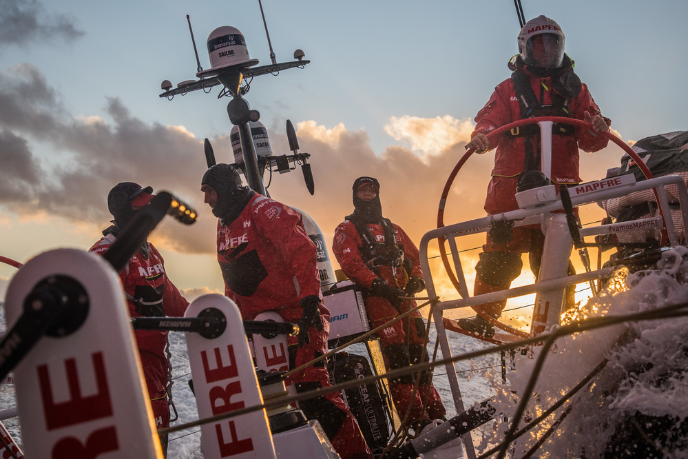 Leg 3, Cape Town to Melbourne, day 03,  on board MAPFRE. Photo by Jen Edney/Volvo Ocean Race. 16 December, 2017.