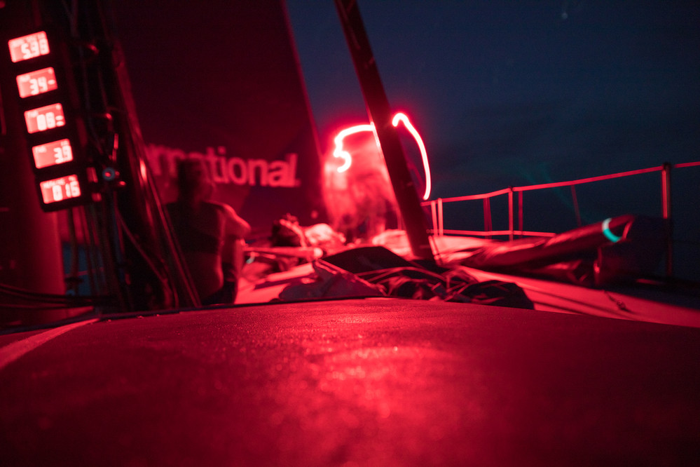 Leg 4, Melbourne to Hong Kong, day 08 on board AkzoNobel going nowhere fast in the doldrums at the front of the pack. Photo by Sam Greenfield/Volvo Ocean Race. 09 January, 2018.