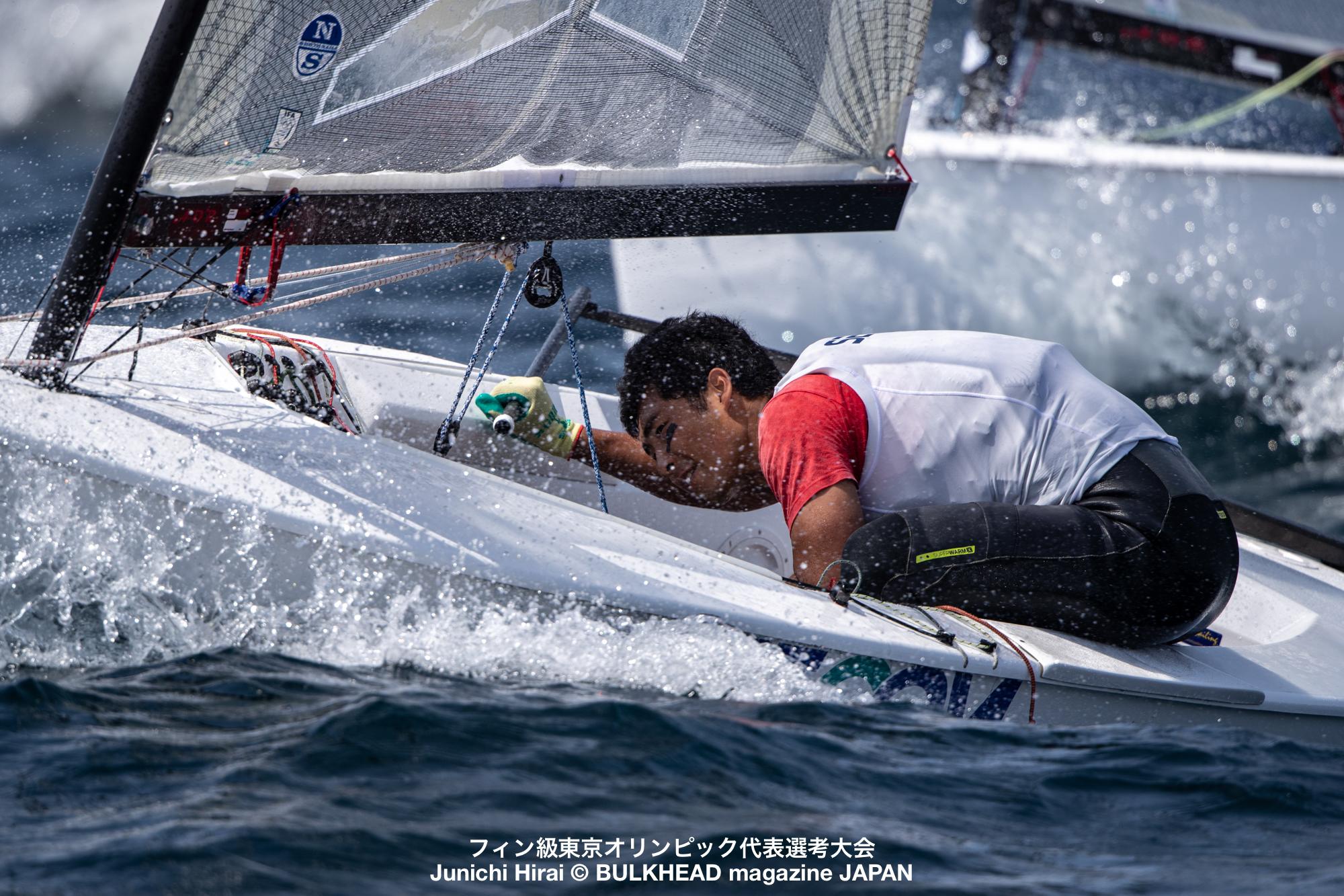 瀬川和正がリード。フィン級東京五輪代表選考初日成績