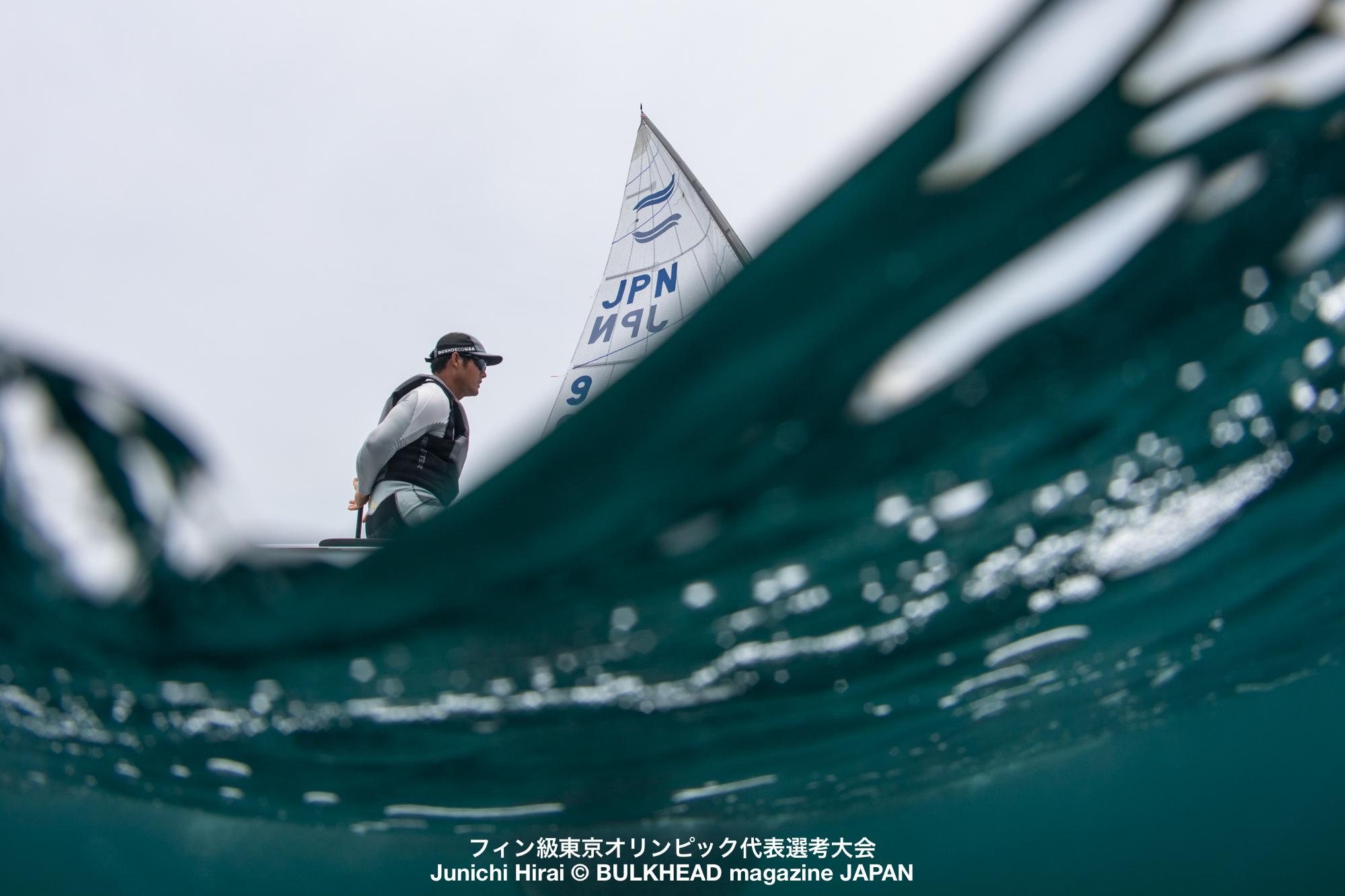風に恵まれ全12レース完了。フィン級東京五輪代表選考最終日