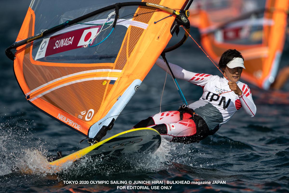 台風の影響で夏の北風レース。東京オリンピック初日